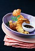 Langoustines fritters,tempura style