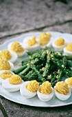Asparagus and egg mimosa