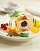 Pork filet mignon with truffles in aspic terrine