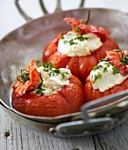 Tomatoes stuffed with brandade