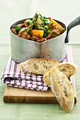 Lamb navarin with spring vegetables