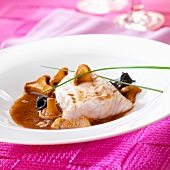 Grouper fillet with mushrooms