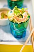 Avocado tartare with shrimps