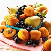 Basket of summer fruits