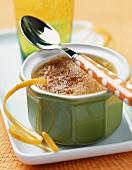 Crème brûlée with orange
