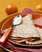 Crêpes with orange blossom water