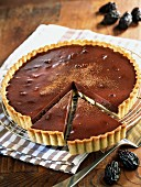 Chocolate and prune pie