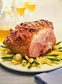 Crispy roast ham