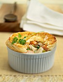 Tuna fish souffle with mushrooms