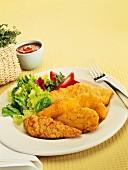 Breaded chicken breast