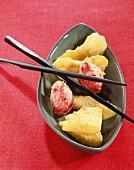 Mixed Fruits with Tempura