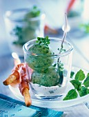 Cucumber and basil sorbet