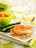 Turkey escalope with a mustard sauce