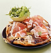Pizza speck and brie