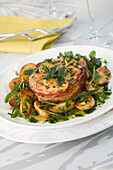 Salmon Tournedos with Herbs