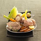 Hochepot flamand (Schweinefleisch-Gemüse-Eintopf, Belgien)