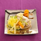 Pot Au Feu (Eintopfgericht aus Frankreich) mit Kaninchen und Ingwer