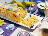 Exotic fruit terrine