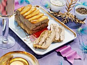 Foie gras terrine with flambéed apples