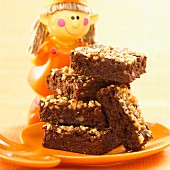 Chocolate and peanut brownies