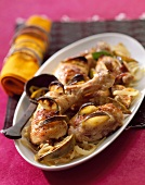 Chicken cooked with lime