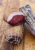 Lonzu (cured, smoked pork fillet from Corsica)