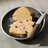 Sliced duck foie gras
