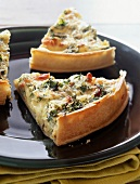 Three cheese tart