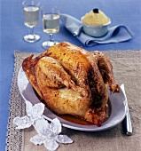 Stuffed Christmas goose