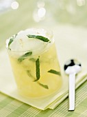 Chilled Mojito with lime