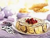 pancake and raspberry cake