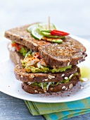 Crab and avocado basque sandwich