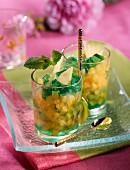 Melon tartare with fresh mint