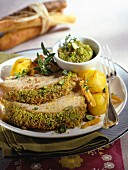 Veal with pistachio butter
