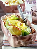 Leek and diced bacon Tartiflette