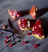 Pomegranate and vanilla pods