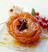 Zlabia-style apricot tartlet