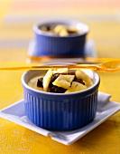 Vanilla custard with fruit