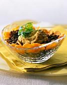 Lentils with cream