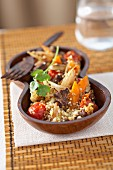 Quinoa tabbouleh with beef