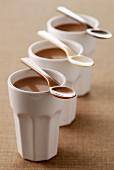 Individual chocolate flans