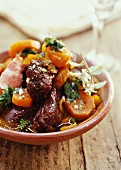 Ostrich,bacon and carrot stew