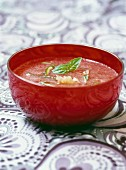 Strawberry and lime coulis