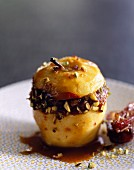 Baked apple with dates