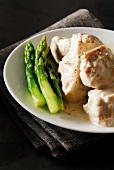 Veal Blanquette with asparagus tops
