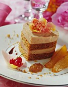Layered foie gras and gingerbread