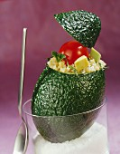 Gefüllte Avocado mit Bulgur