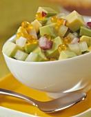 Avocado and salmon roe salad