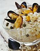 Miesmuschel-Risotto mit Parmesan