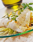 Seabream fillets with stewed fennel